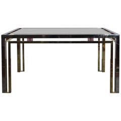 Romeo Rega Brass Glass Whit Details in Lucite Coffee Table, Italy, 1970s