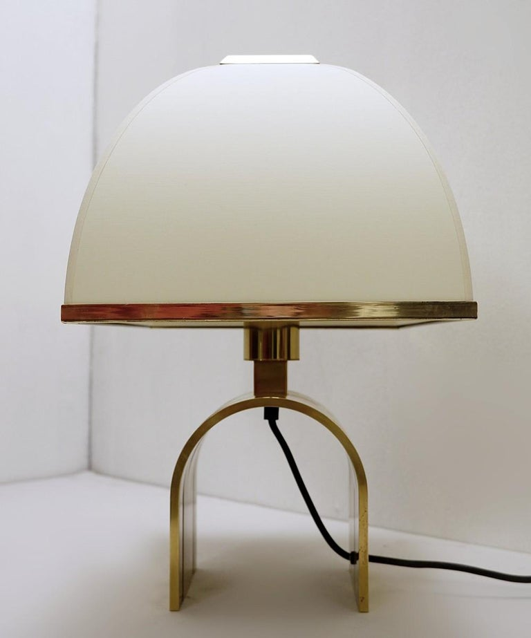 Mid-Century Modern Romeo Rega Brass Table Lamp, Italy, 1960s For Sale