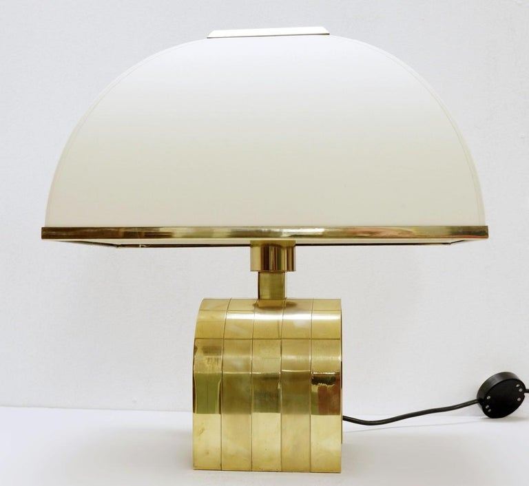 20th Century Romeo Rega Brass Table Lamp, Italy, 1960s For Sale