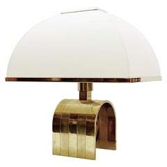 Romeo Rega Brass Table Lamp, Italy, 1960s
