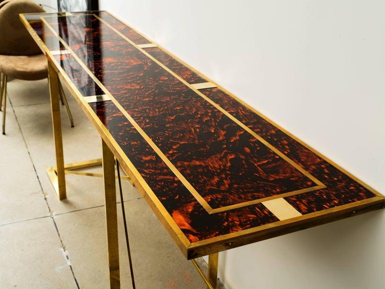 Brass Romeo Rega Console Table  For Sale