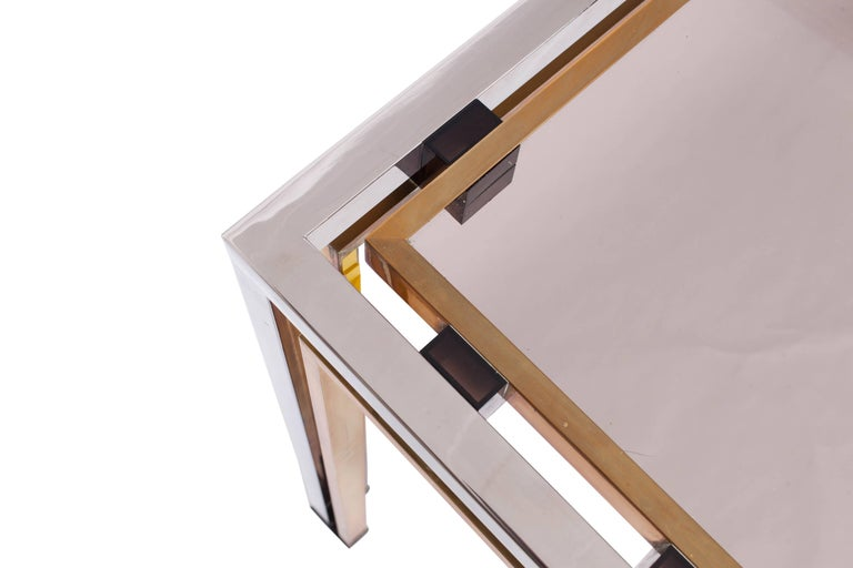 Romeo Rega Console Table in Brass and Chrome In Good Condition For Sale In Antwerp, BE