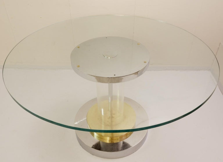 Romeo Rega Dining Table, Italy, 1970s In Good Condition For Sale In Brussels, BE