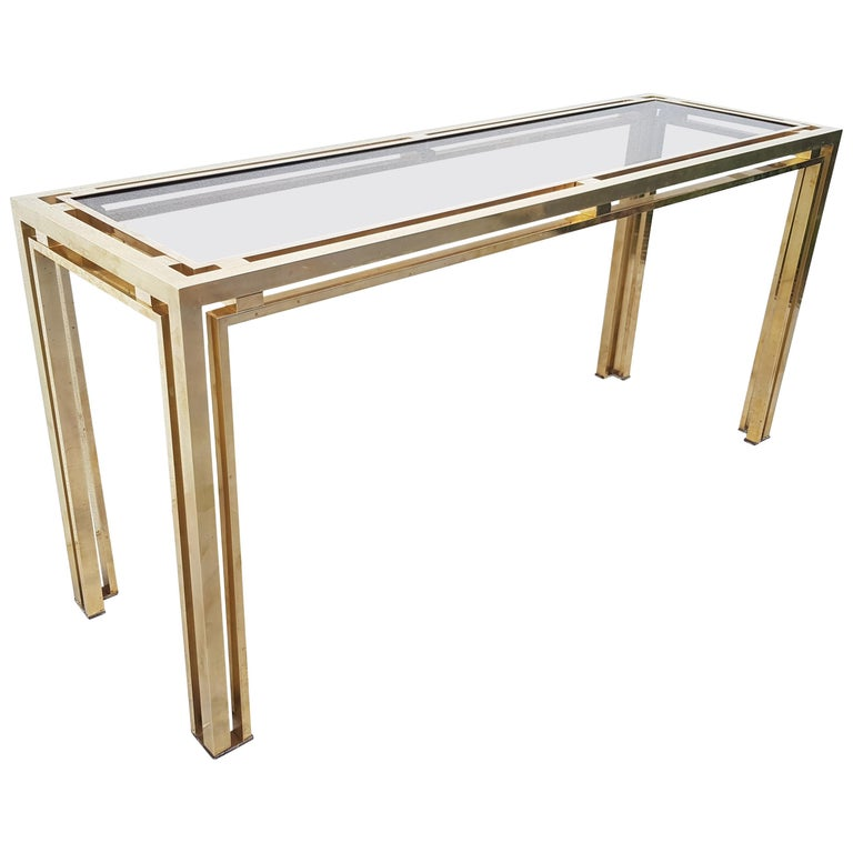Romeo Rega Full Brass Extra Large Console Table For Sale At 1stdibs
