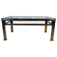 Romeo Rega Italian, 1970s Chrome and Brass Vitrine Coffee Table