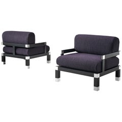 Romeo Rega Pair of Reupholstered Club Chairs