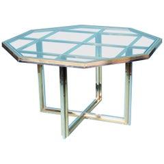 Romeo Rega Style Bicolor Metal Dinning Table