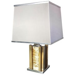 Romeo Rega Table Lamp in Brass and Chrome, Made in Italy