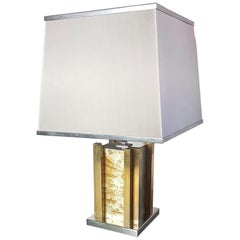 Romeo Rega Table Lamp in Brass and Chrome made in Italy