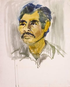 Autoretrato, Watercolor on Paper, Modern Art, Mexico