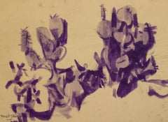 Nopales, Ink on Paper, Modern Art, Mexico