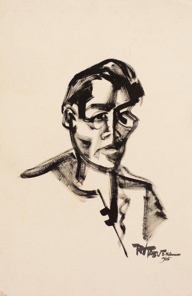 Retrato, Gouache on Paper, Modern Art, Mexico
