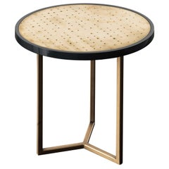 Romeo Wood and Brass Side Table by Chiara Provasi