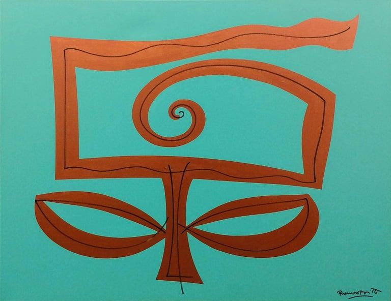 Romero Britto Figurative Painting - AQUA GARDEN