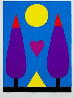 """""""Amor (Love),"""" original silkscreen by Romero Britto"""