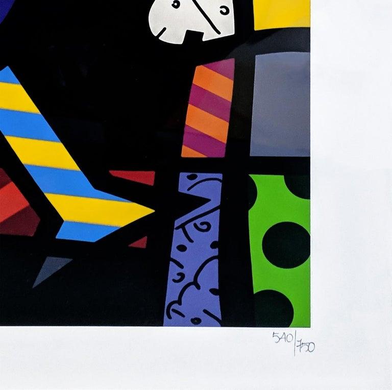 CELEBRATING - Black Animal Print by Romero Britto