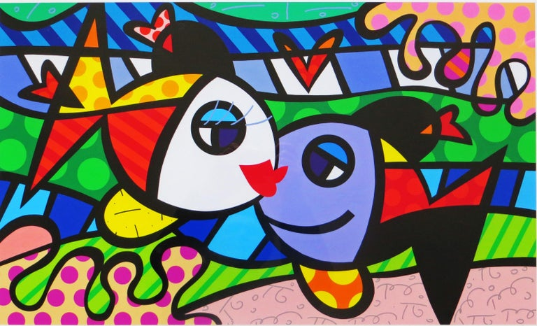Romero Britto - Deeply in Love L/E giclee - Contemporary Print by Romero Britto