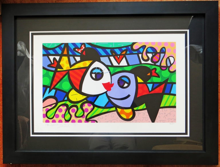 Romero Britto - Deeply in Love L/E giclee For Sale 1