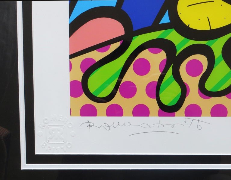 Romero Britto - Deeply in Love L/E giclee For Sale 3