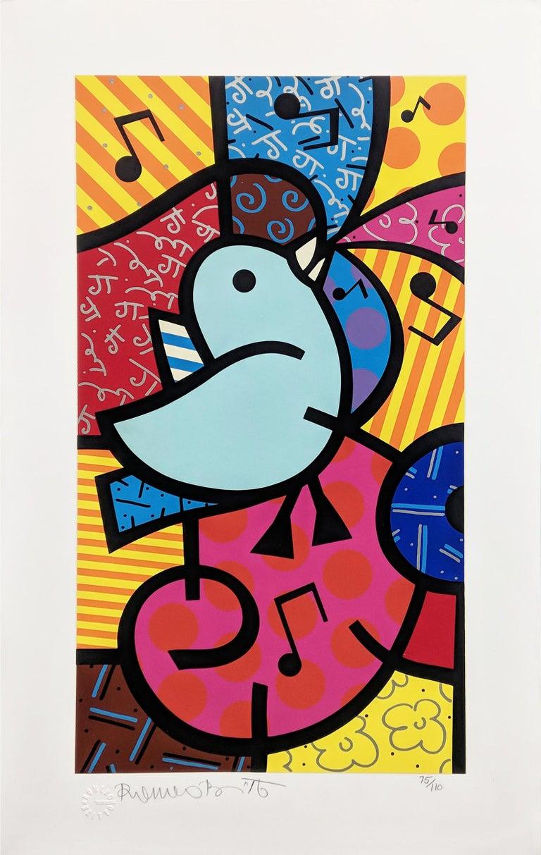 Romero Britto Figurative Print - SONG BIRDS