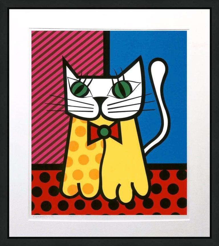 Romero Britto Figurative Print - THE CAT