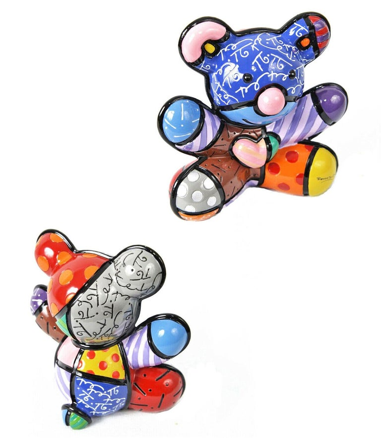 JOY BEAR (SCULPTURE) - Sculpture by Romero Britto