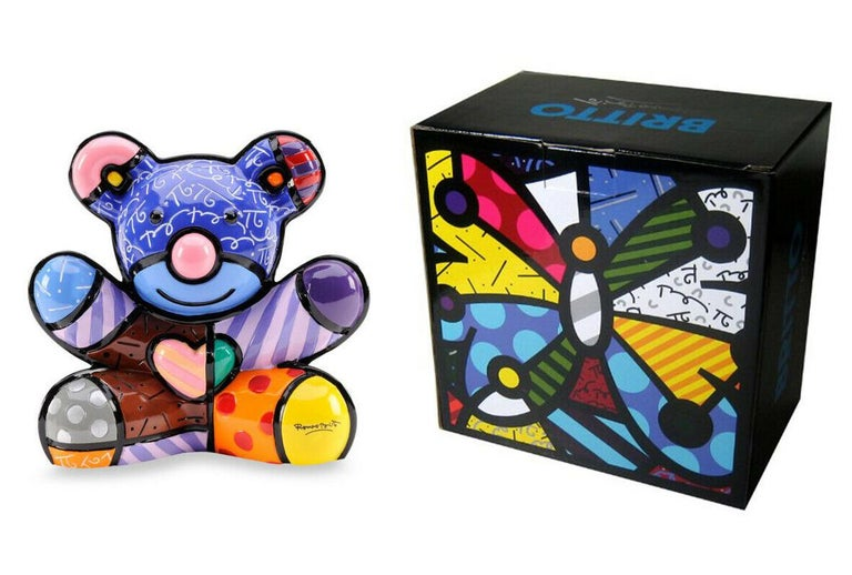 Romero Britto Figurative Sculpture - JOY BEAR (SCULPTURE)