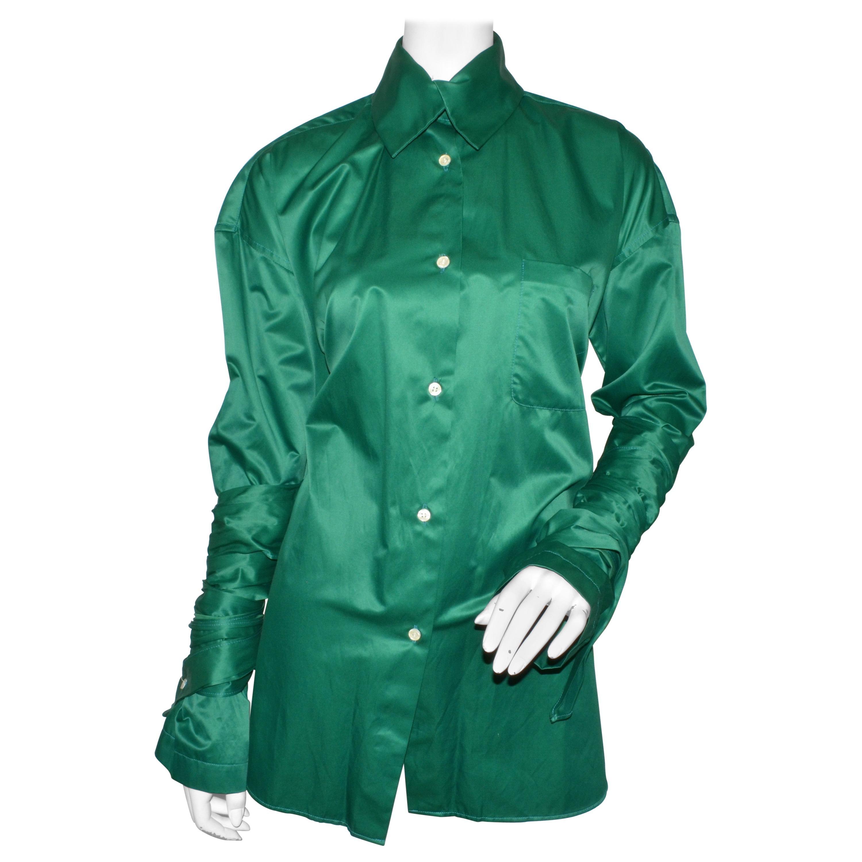 Romero Gigli Vintage Button Up Top with Wraparound Sleeves
