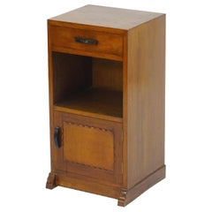 Romney Green, Style of, an Arts & Crafts Cotswold School Walnut Bedside Cabinet