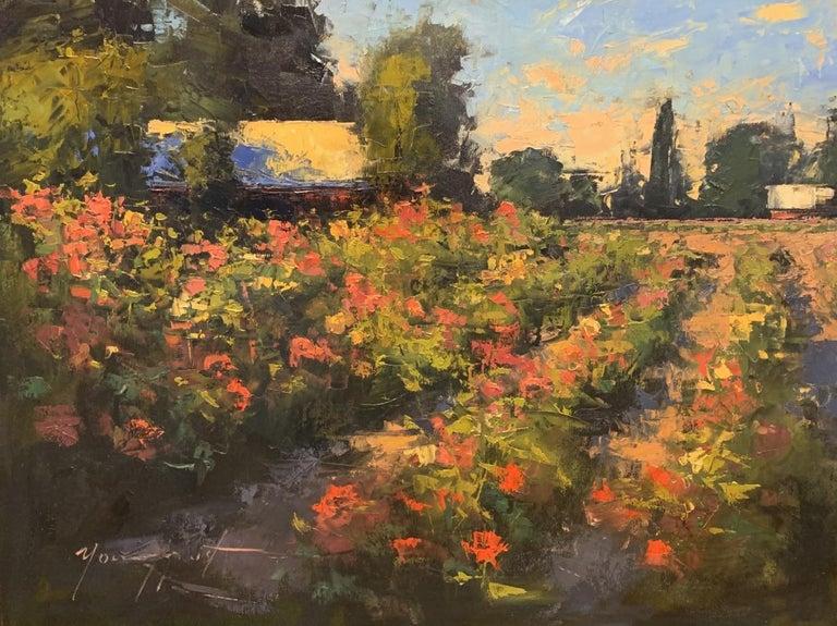 "Romona Youngquist, Landscape Painting - ""Dahlia Garden"""