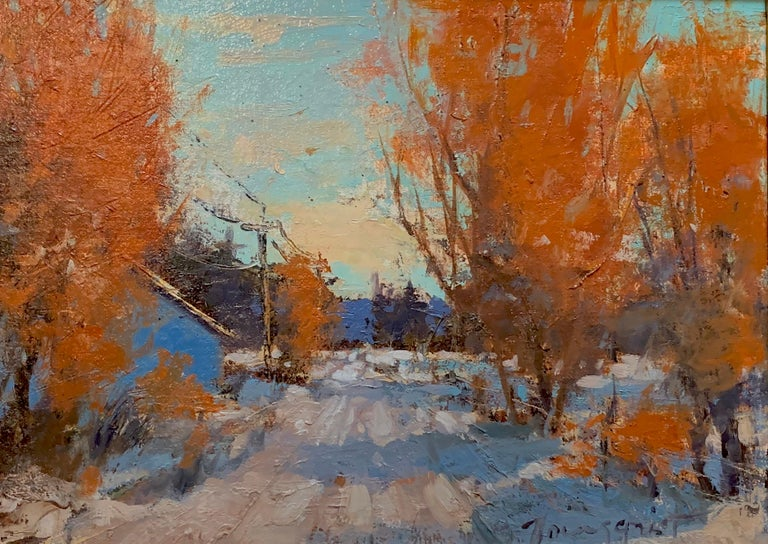 """Romona Youngquist, Landscape Painting - """"October Snow"""""""