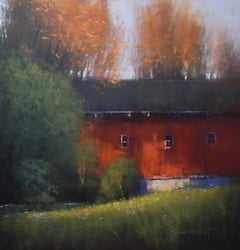 """Red Barn in Autumn"""