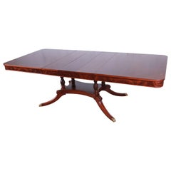 Romweber Antique Flame Mahogany Double Pedestal Dining Table