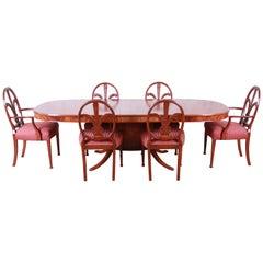 Romweber Carved Mahogany French Regency Dining Set, Newly Refinished