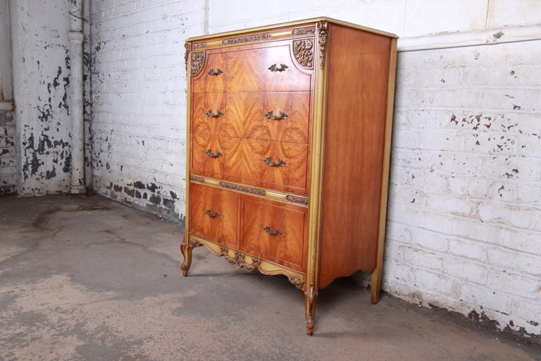 A gorgeous French Provincial Louis XV style highboy dresser