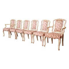 Romweber French Rococo Louis XV Dining Chairs, Set of Six