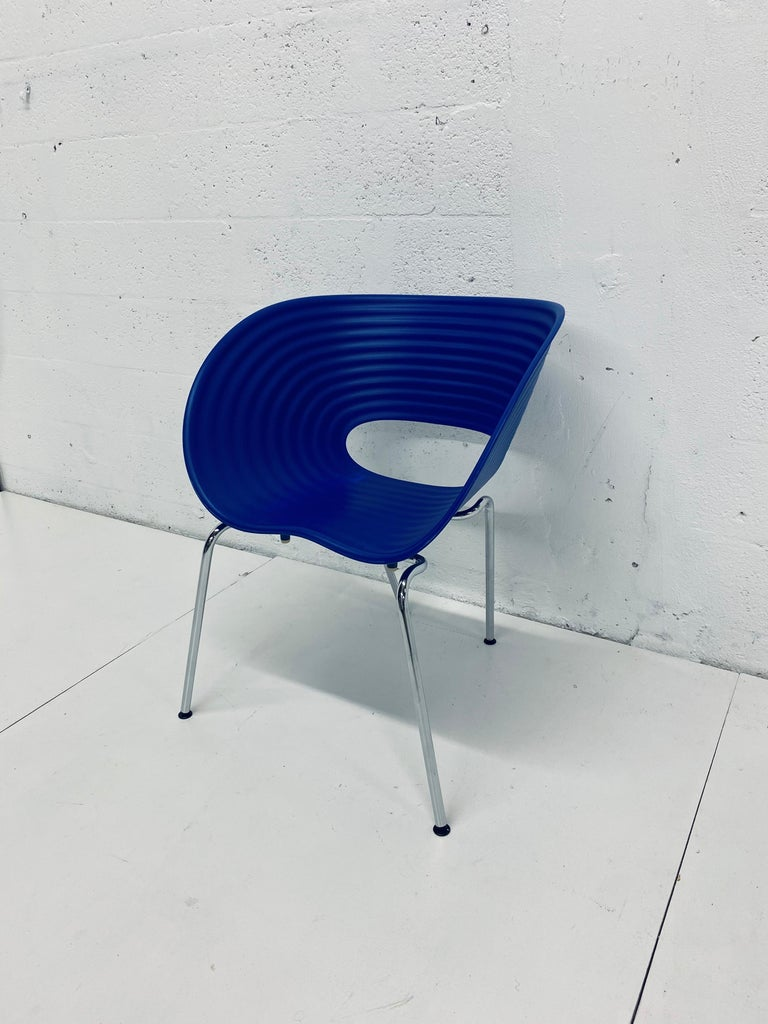 Ron Arad Cobalt Blue Tom Vac Plastic Shell Chair for Vitra For Sale 5