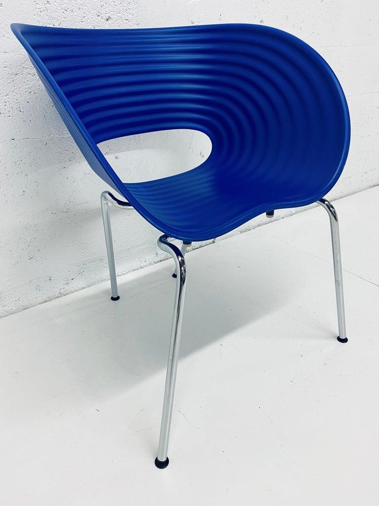 Modern Ron Arad Cobalt Blue Tom Vac Plastic Shell Chair for Vitra For Sale
