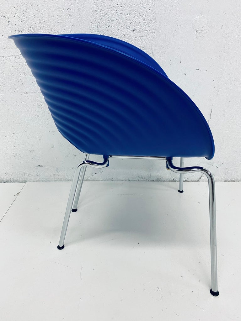 Late 20th Century Ron Arad Cobalt Blue Tom Vac Plastic Shell Chair for Vitra For Sale