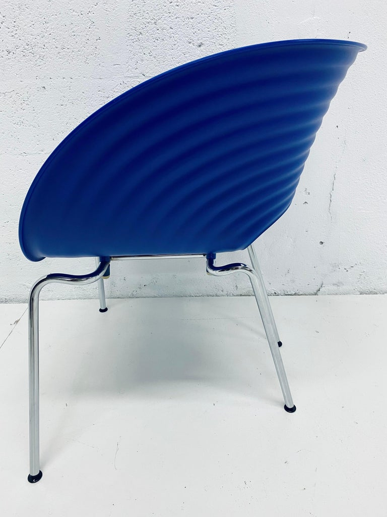 Ron Arad Cobalt Blue Tom Vac Plastic Shell Chair for Vitra For Sale 2