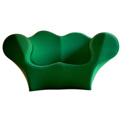 Ron Arad Double Soft Big Easy Sofa in Green by Moroso Italy, circa 1991