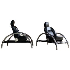 Ron Arad Rover Chairs Pair by One Off Ltd, circa 1981