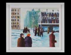 Ron Barnes The Buskers New York Acrylic