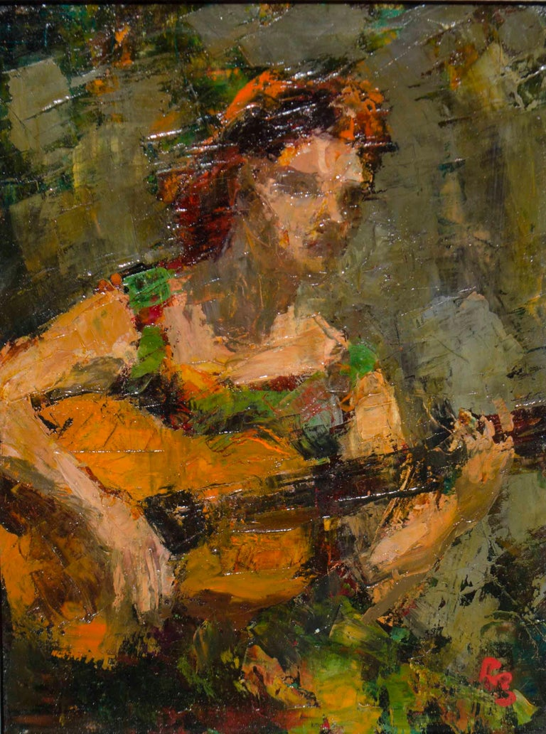 Ron Blumberg Figurative Painting - Flamenco
