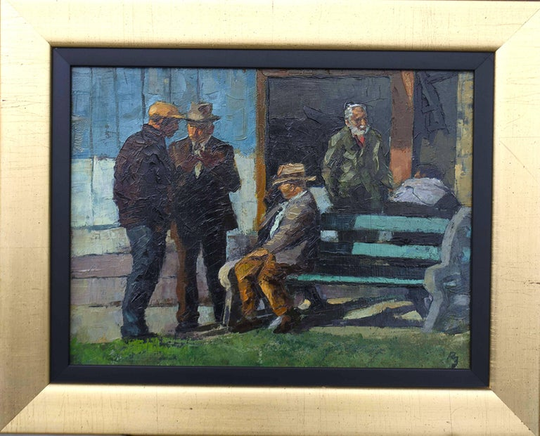 Ocean Park Bench - Painting by Ron Blumberg