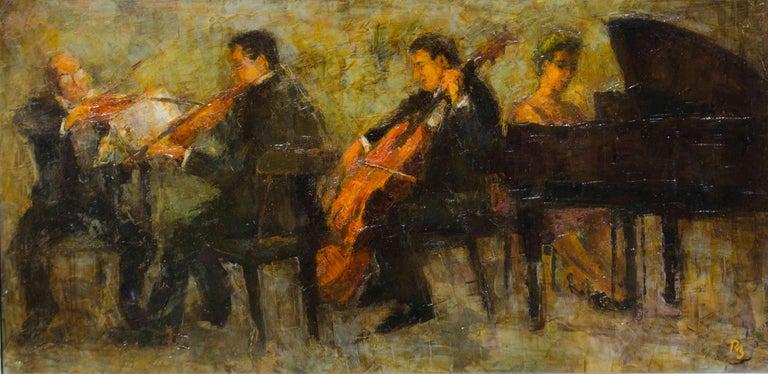 Ron Blumberg Figurative Painting - Quartet
