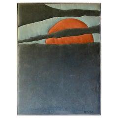 Ron Brejtfus Ultrasuede Sunset Art