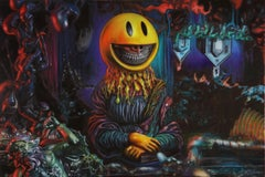 """""""Melting Mona Grin"""" - Painting by Ron English"""