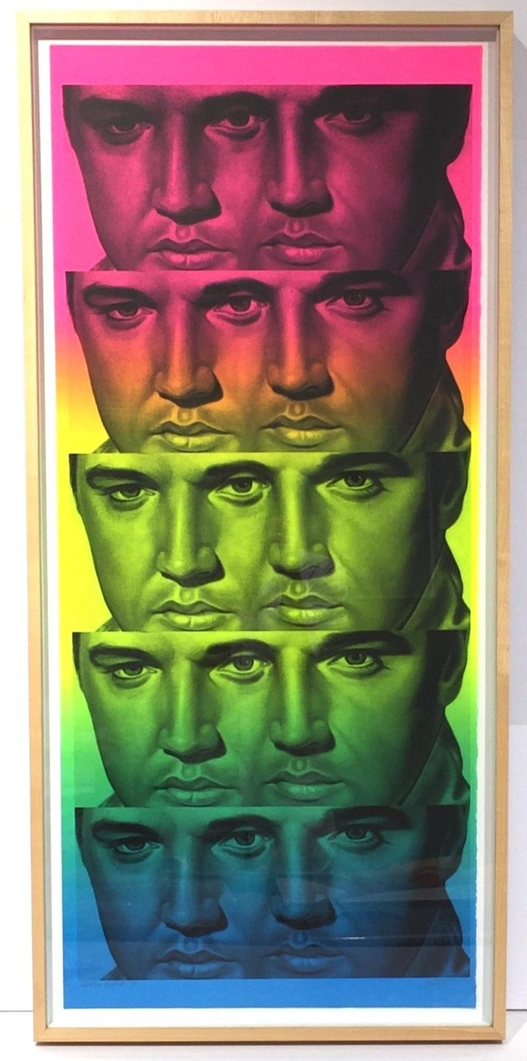 Rainbow Elvis II - Print by Ron English