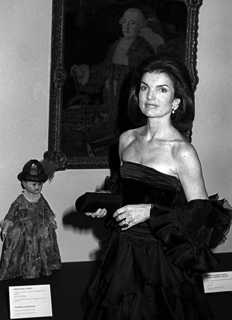 Jacqueline Kennedy Onassis at the Metropolitan Museum of Art - Photograph by Ron Galella